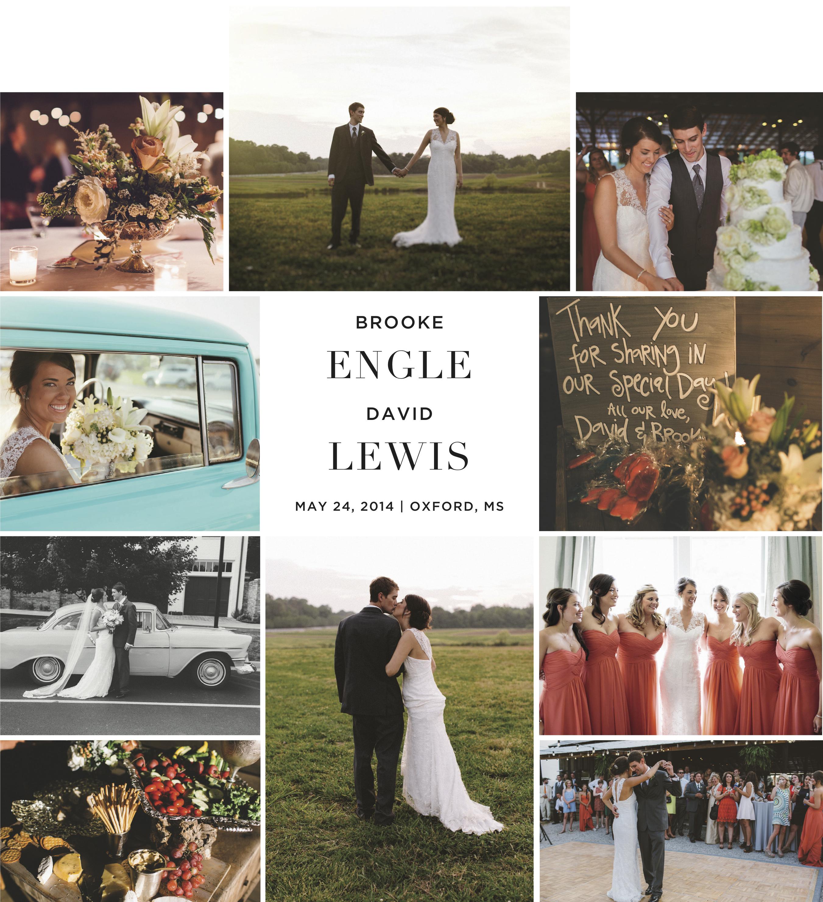 Friday's Featured Wedding: Brooke Manning Engle & David