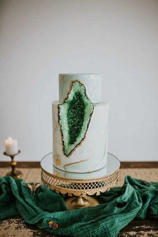 5 Hottest Wedding Cake Trends Of 2017 I DO YALL - Geode Wedding Cake