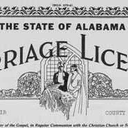 AL Marriage license