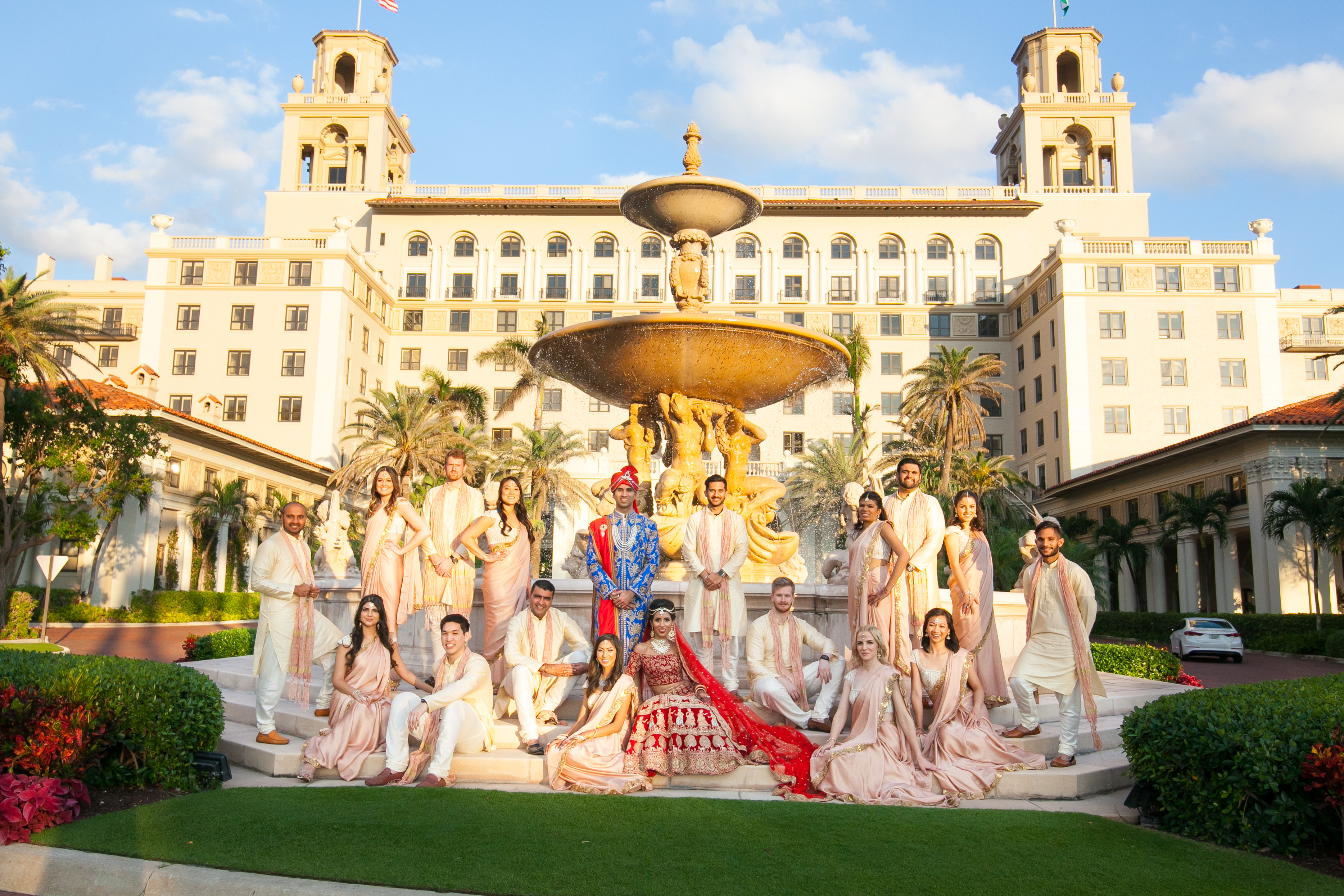 Colorful Palm Beach Wedding Embraces Cultural Rituals And
