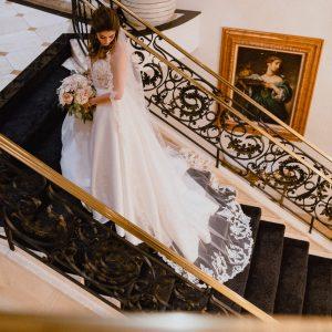 Bride Lower Level Staircase-Le Pavillon