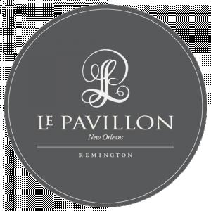Gray Circle Logo-Le Pavillon