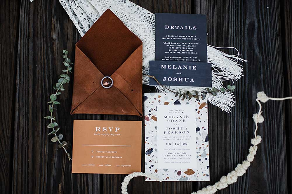 Boho Coastal Wedding Invitations | photo by MBM Photography | featured on I Do Y'all