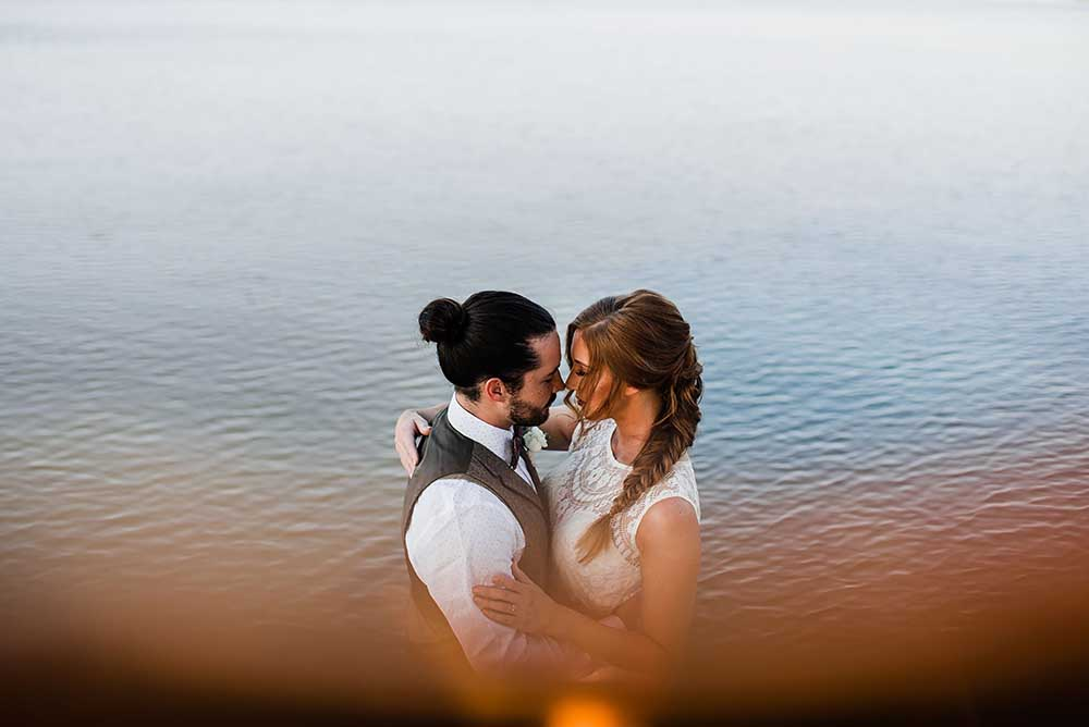Moody Bride & Groom with Water | photo by MBM Photography | featured on I Do Y'all