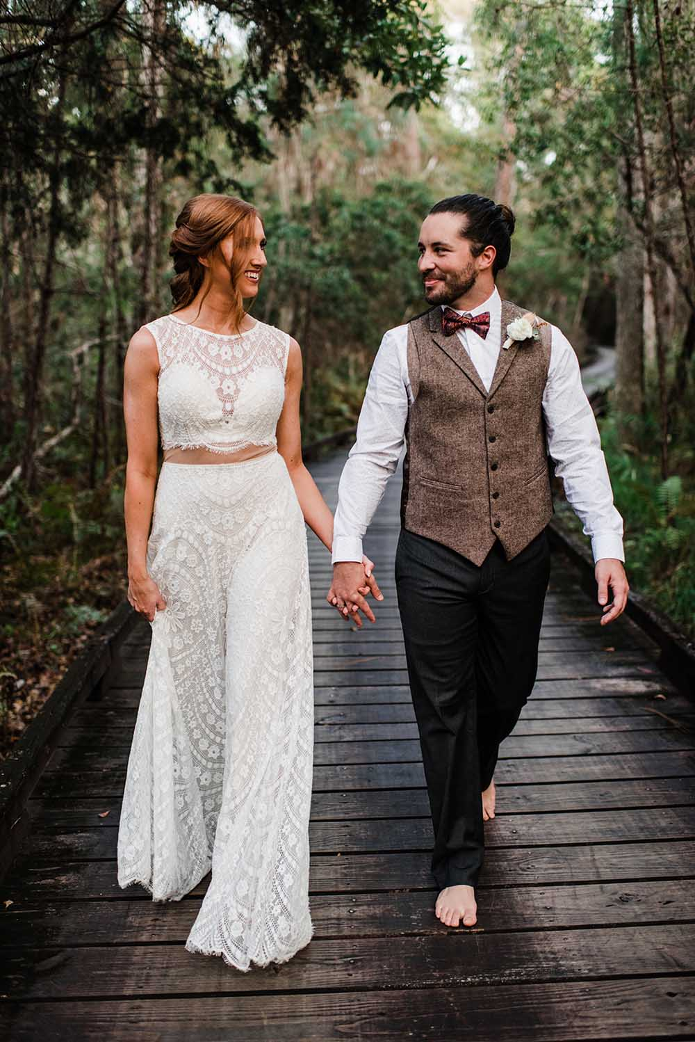 Boho Elopement Wedding Attire | photo by MBM Photography | featured on I Do Y'all