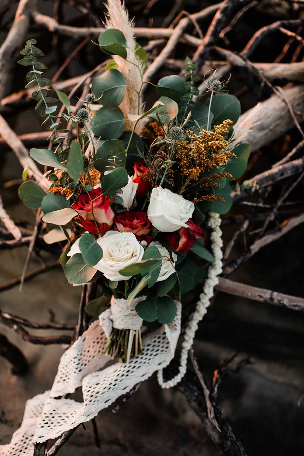 Boho Coastal Fall Wedding Bouquet | photo by MBM Photography | featured on I Do Y'all