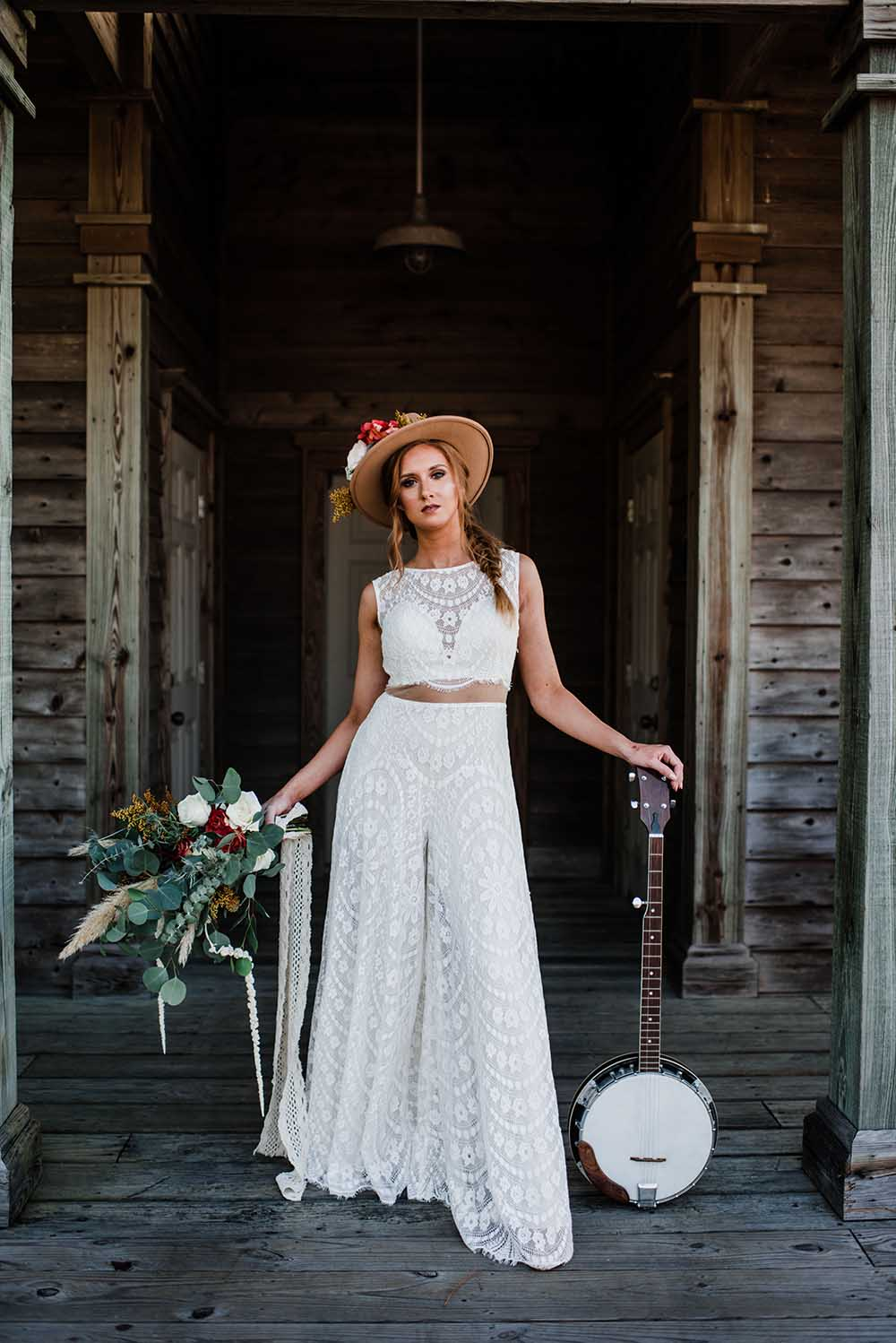 Boho Elopement Microwedding Bridal Jumpsuit | photo by MBM Photography | featured on I Do Y'all