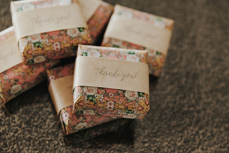 Floral Wrapping Paper for Wedding Guest Favors | photo by Deltalow | featured on I Do Y'all