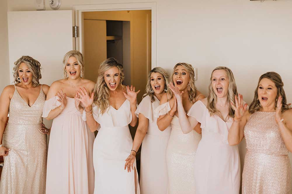 Bridesmaids Reaction to Bride | photo by Emily Green Photography | featured on I Do Y'all
