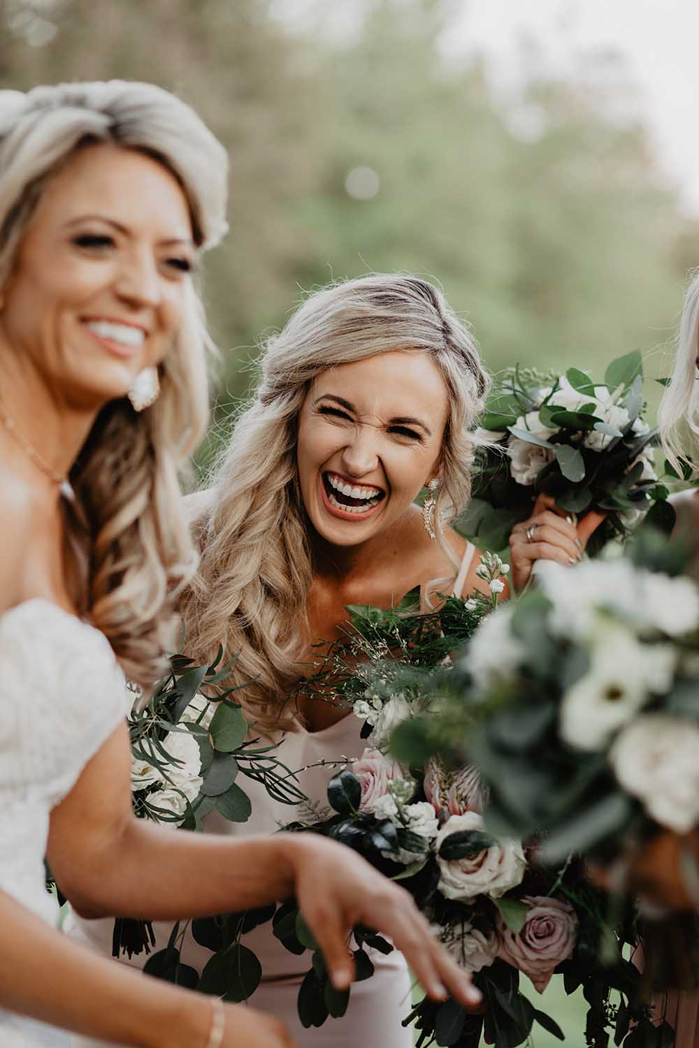Bride & Bridesmaids Laughing Pose | photo by Emily Green Photography | featured on I Do Y'all