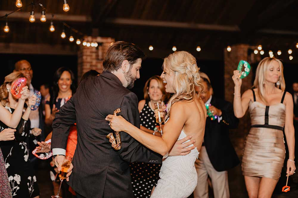 Bride & Groom Dancing at Reception | photo by Emily Green Photography | featured on I Do Y'all