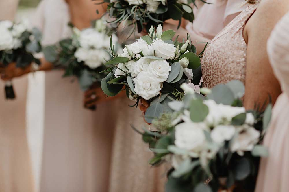 White Rose Bridesmaid Bouquets | photo by Emily Green Photography | featured on I Do Y'all