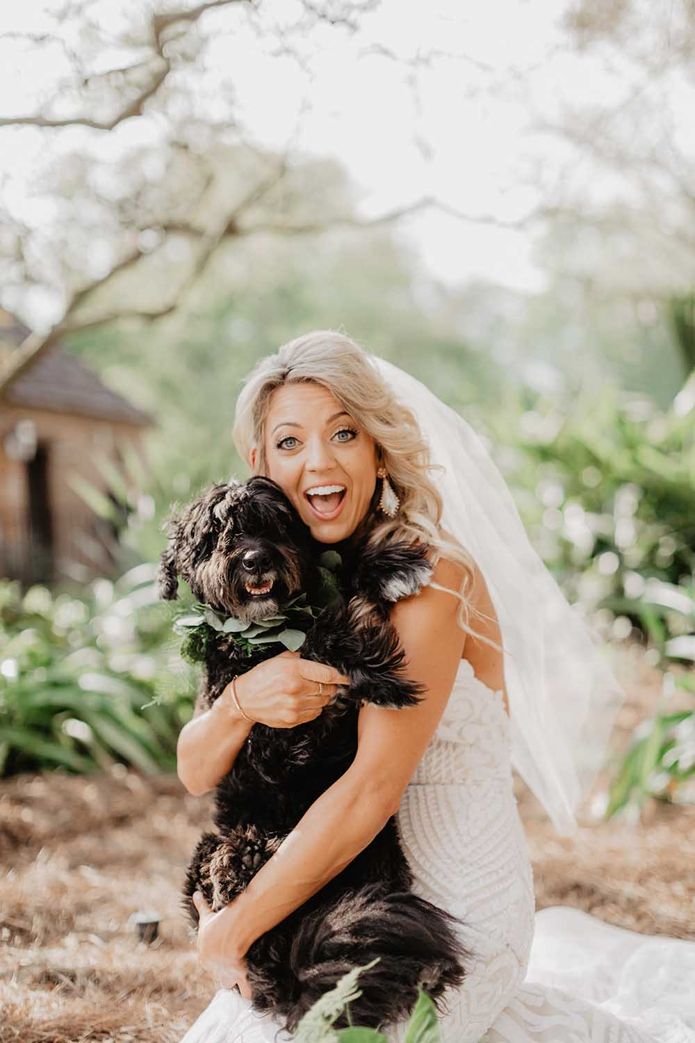 Bride & Dog Photo | photo by Emily Green Photography | featured on I Do Y'all