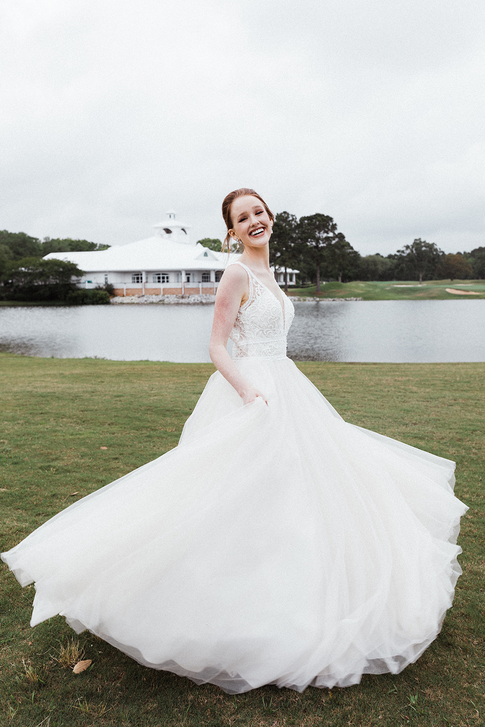 Bride Twirling in Gown | photo by Ash Simmons Photography | featured on I Do Y'all