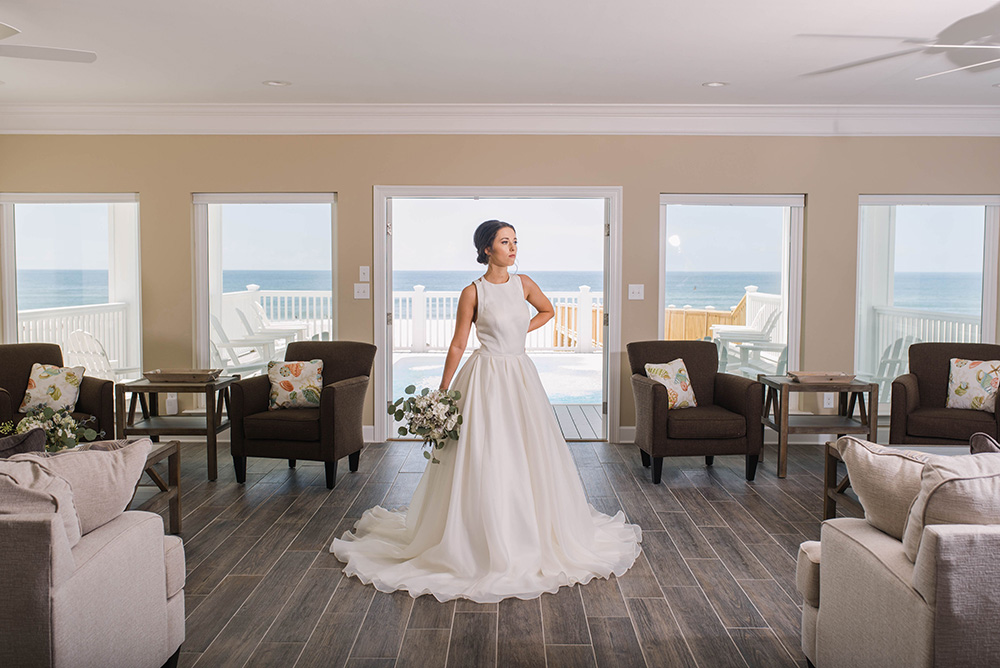 Bride at Beach House | featured on I Do Y'all