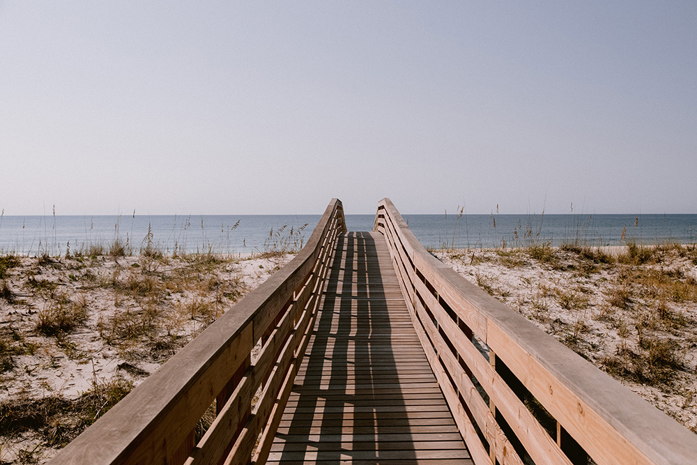Boardwalk to Beach Wedding | photo by Ash Simmons Photography | featured on I Do Y'all