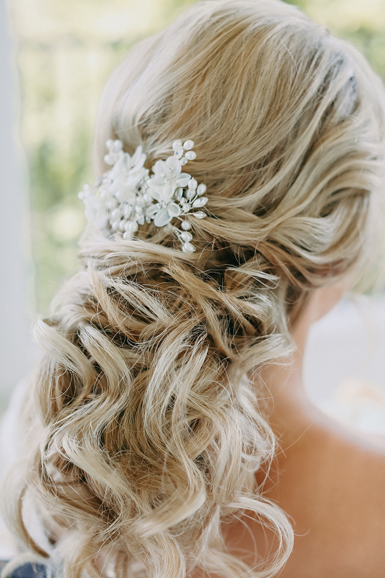 Loosely Curled Wedding Updo | photo by Pendo Photography | featured on I Do Y'all