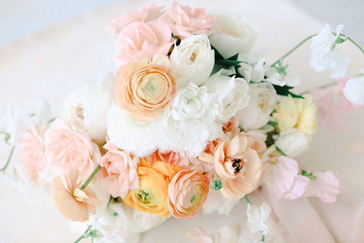 Peach Pink & White Wedding Bouquet | photo by Pendo Photography | featured on I Do Y'all