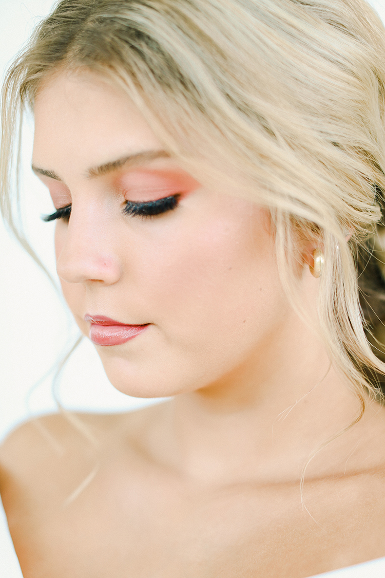 Peach Wedding Makeup | photo by Pendo Photography | featured on I Do Y'all