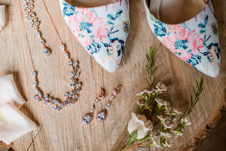 Floral wedding heels | photo by John Myers Photography | featured on I Do Y'all