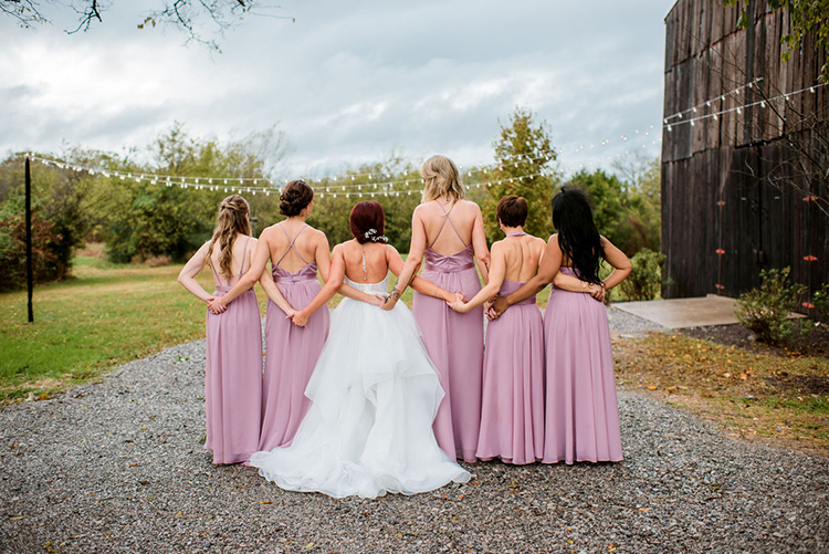 Vera Wang bridesmaids dress with open backs | photo by John Myers Photography | featured on I Do Y'all