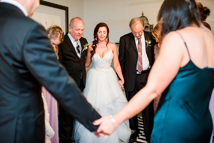 Family prayer before wedding | photo by John Myers Photography | featured on I Do Y'all