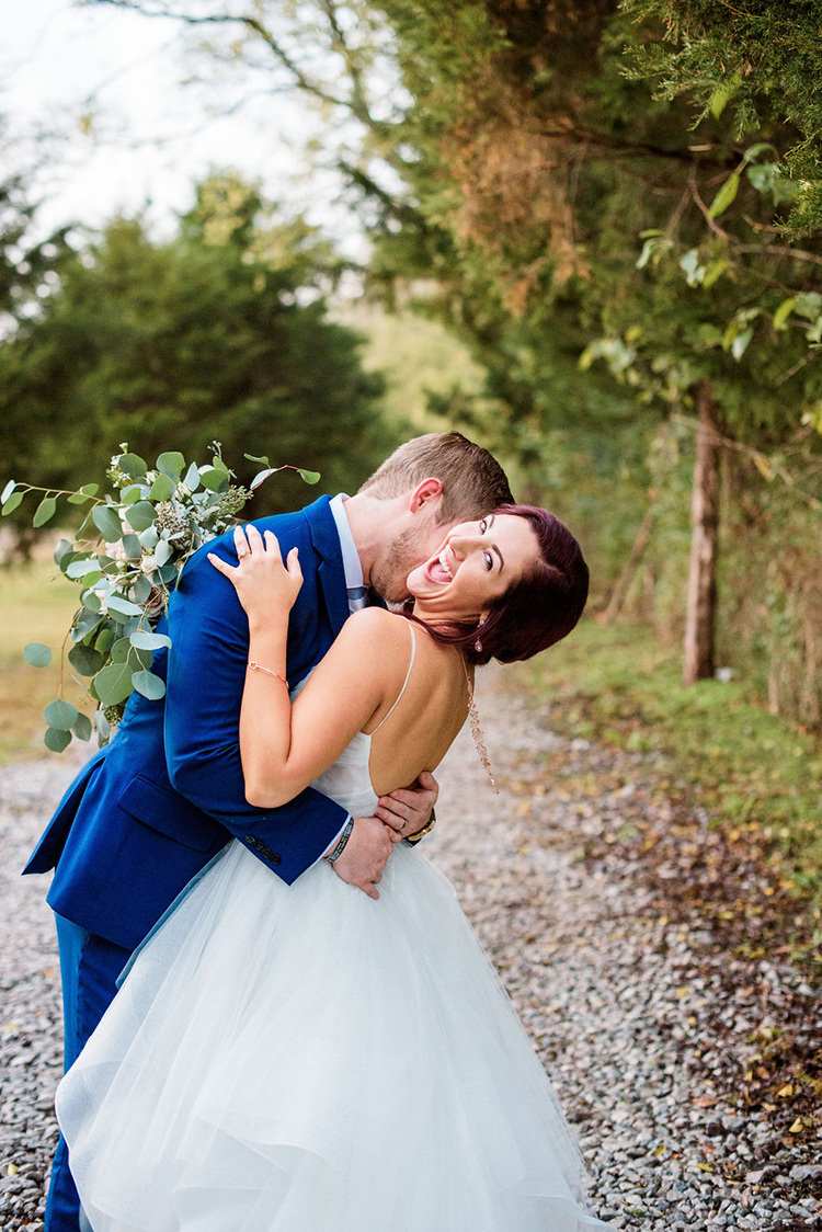 Bride laughing with groom | photo by John Myers Photography | featured on I Do Y'all