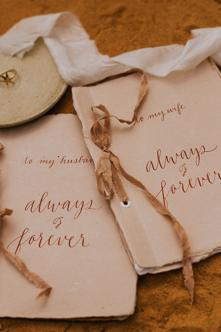 Boho Chic Vow Books | photo by The Youngs | featured on I Do Y'all