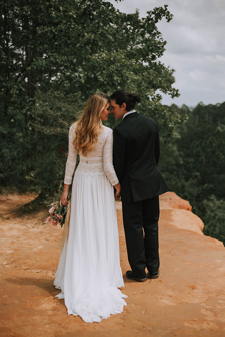 Long Sleeve Wedding Dress for Boho Elopement | photo by The Youngs | featured on I Do Y'all
