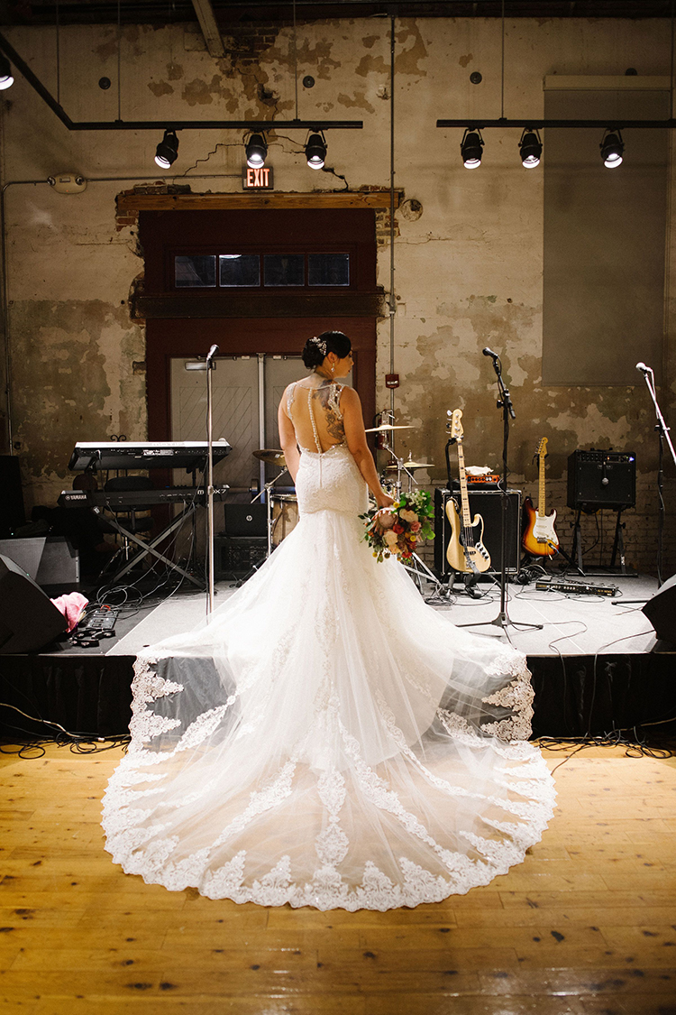Trumpet Wedding Dress with Illusion Open Back and Lace Train | photo by Staci Lewis Photography | featured on I Do Y'all