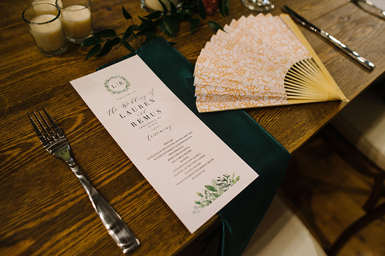 Chinese Fan & Wedding Menu Program | photo by Staci Lewis Photography | featured on I Do Y'all