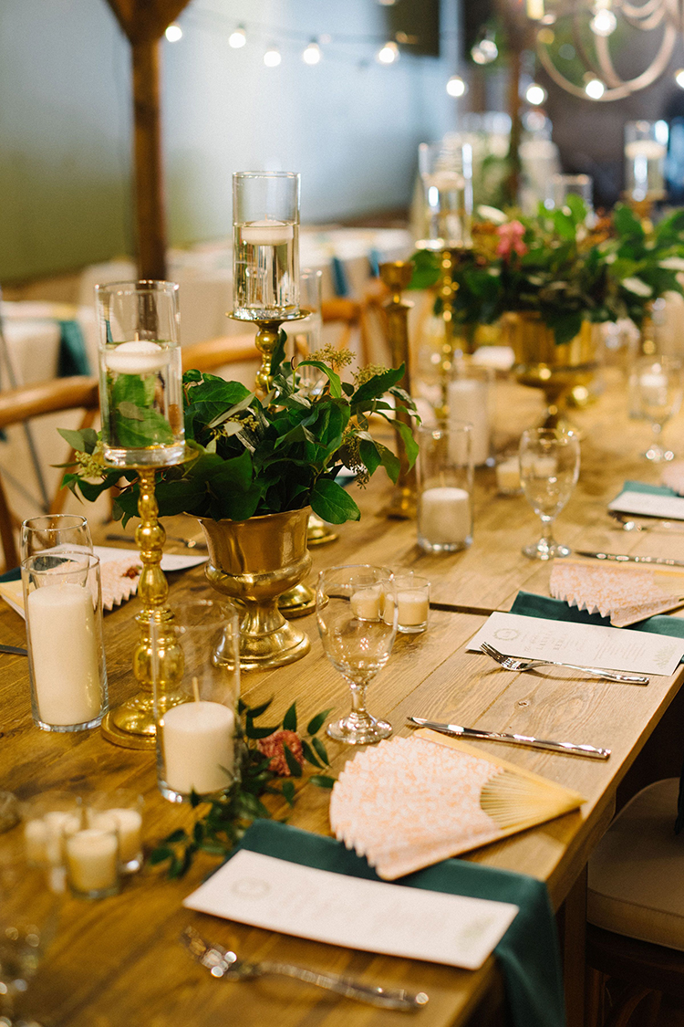 Gold & Greenery Wedding Reception Decor | photo by Staci Lewis Photography | featured on I Do Y'all