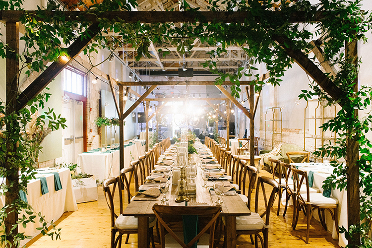 Greenery Covered Head Table at Wedding | photo by Staci Lewis Photography | featured on I Do Y'all