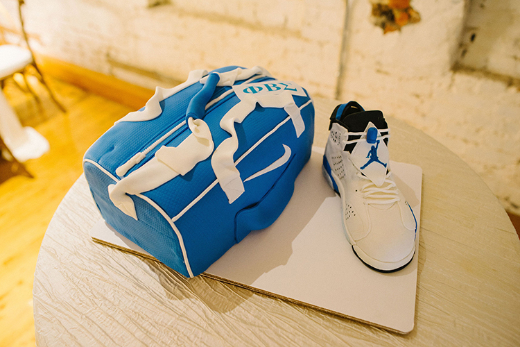 Air Jordan & Nike Duffel Bag Groom's Cake | photo by Staci Lewis Photography | featured on I Do Y'all