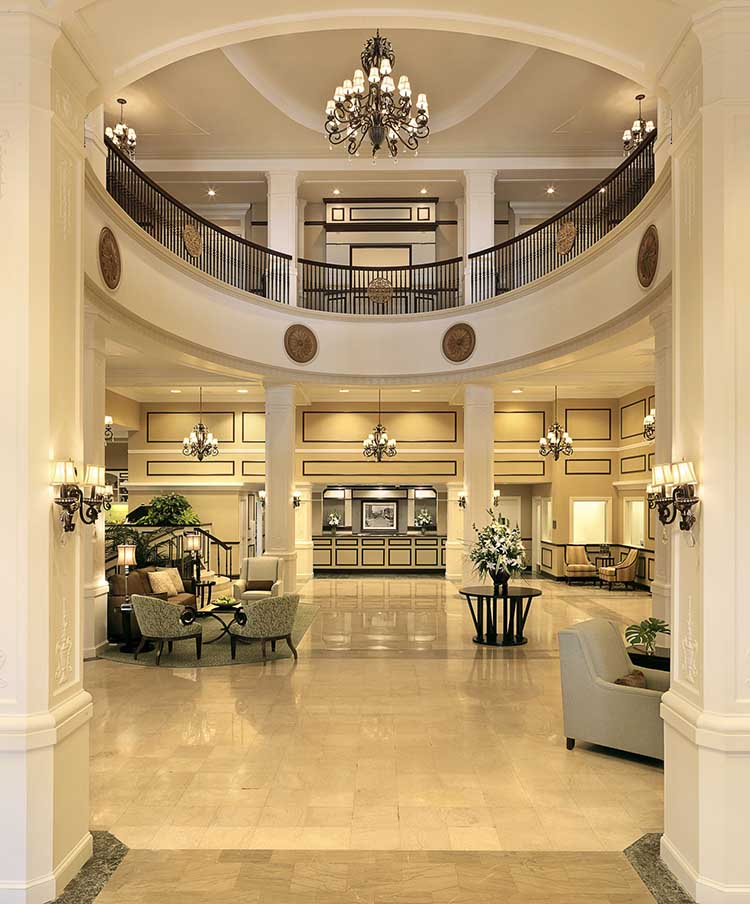 Grand lobby of King Edward Hotel in Jackson, MS | featured on I Do Y'all