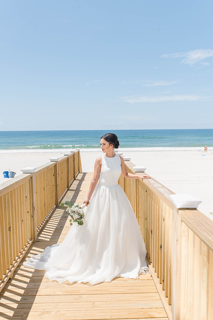 Bride at Gulf front beach house | photo by Southern Wedding Pixels | featured on I Do Y'all