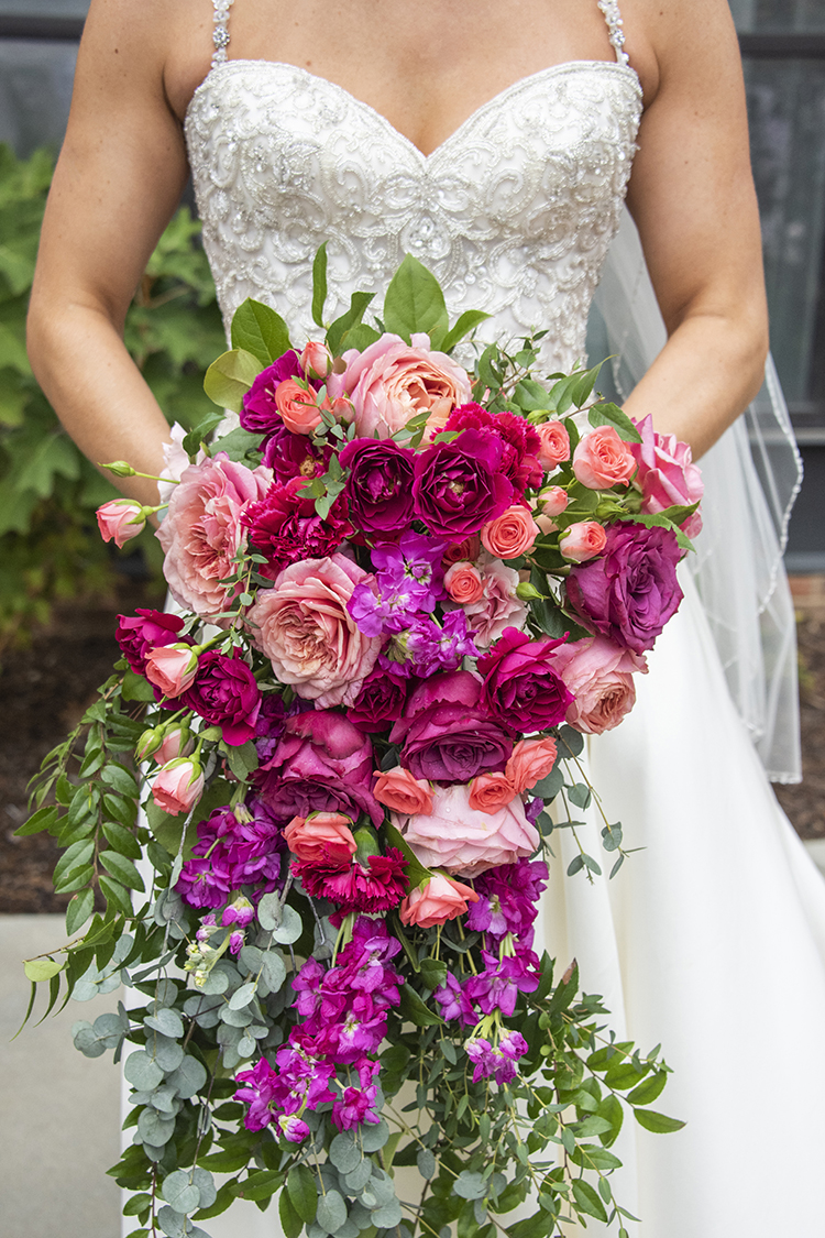 Pink Rose Lush Wedding Bouquet | photo by Jessica Merithew Photography | featured on I Do Y'all