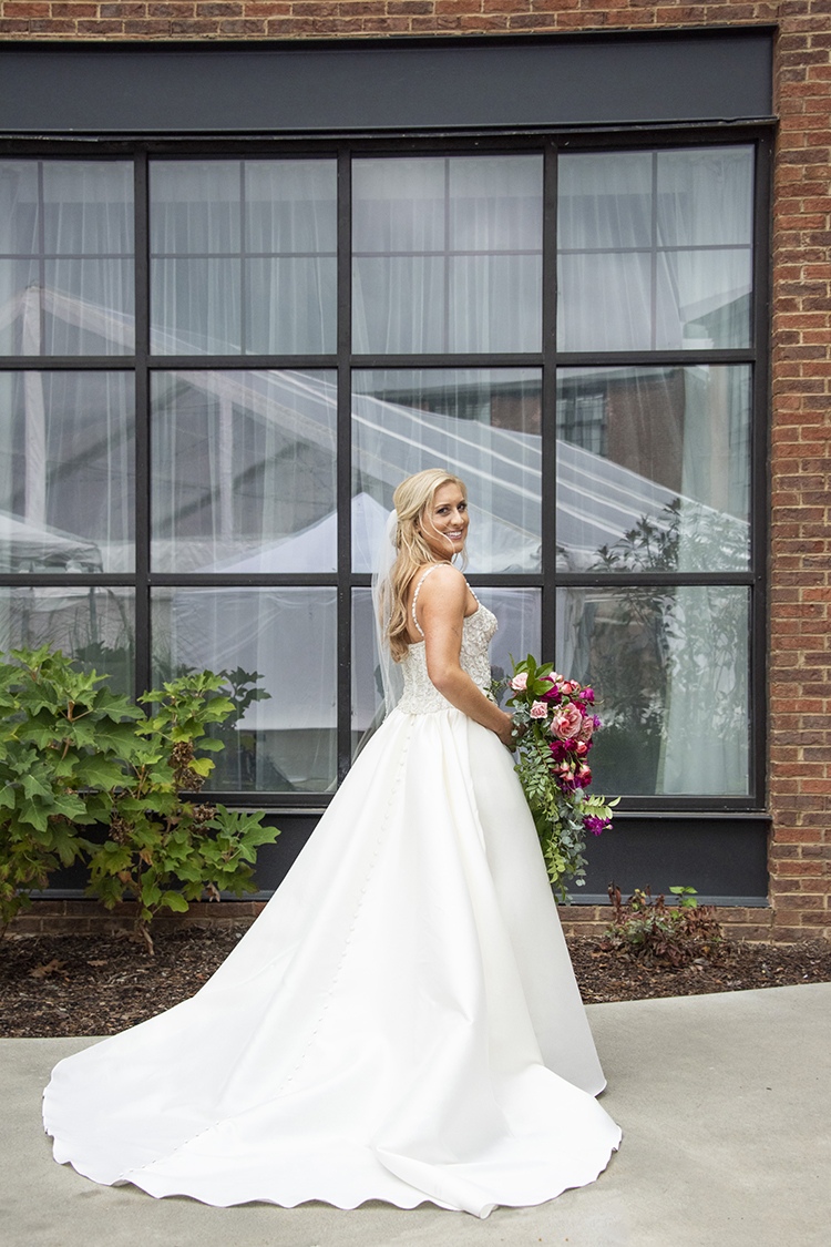Long Train on Wedding Dress | photo by Jessica Merithew Photography | featured on I Do Y'all