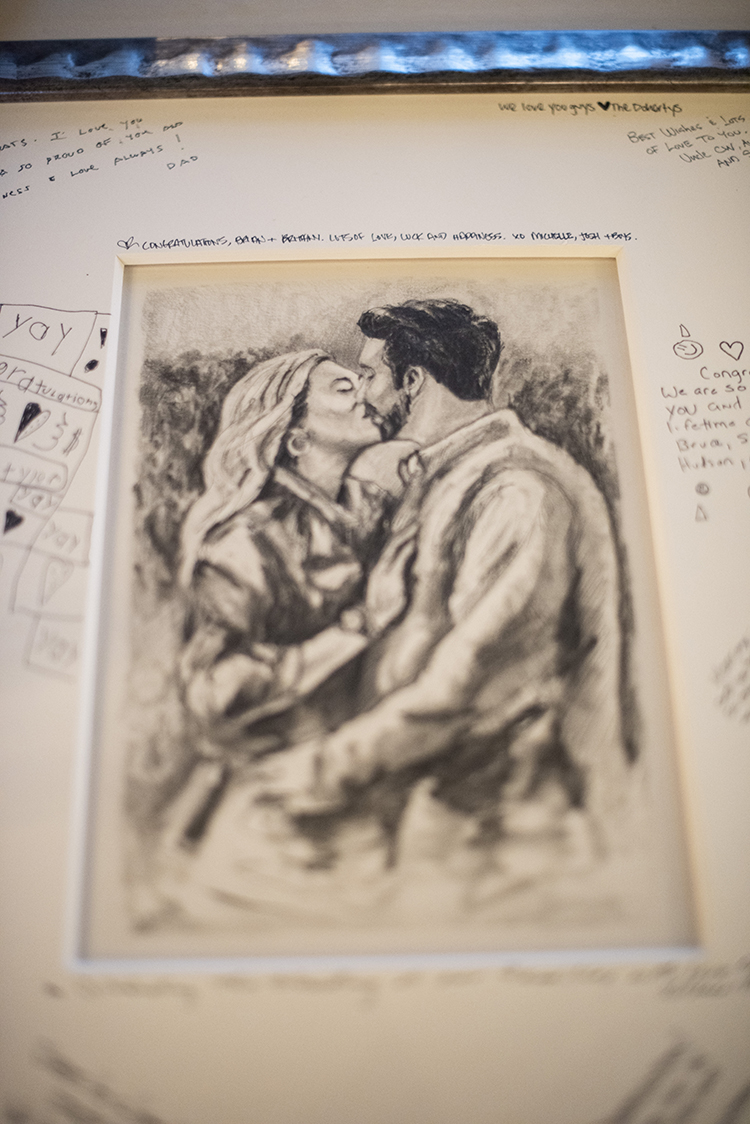 Drawing of Couple for Wedding Guestbook | photo by Jessica Merithew Photography | featured on I Do Y'all