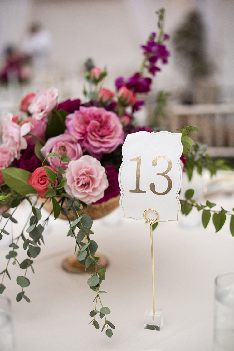 Gold Wedding Table Numbers | photo by Jessica Merithew Photography | featured on I Do Y'all