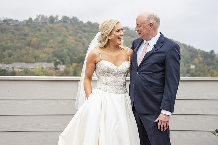 Brides First Look with Father | photo by Jessica Merithew Photography | featured on I Do Y'all