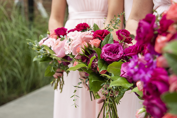Pink Bridesmaids Bouquets | photo by Jessica Merithew Photography | featured on I Do Y'all