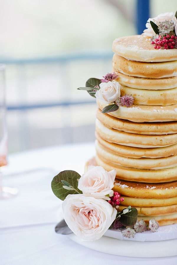 Pancake Wedding Cake | photo by Blair Schluter | featured on I Do Y'all for 5 Non-Sweet Alternatives to Wedding Cake