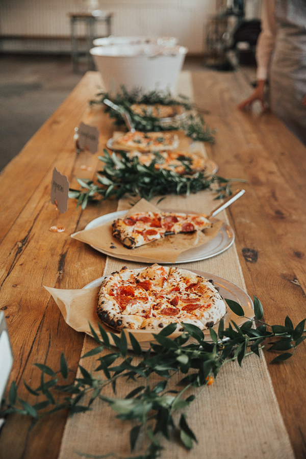 Pizza Wedding Cake | photo by Talia Jensen | featured on I Do Y'all for 5 Non-Sweet Alternatives to Wedding Cake