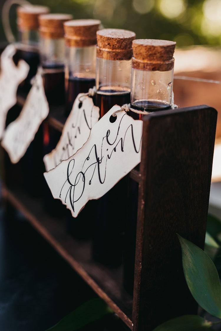 Love Potion Wedding Favors | photo by Bri Bond Photography via Kate Aspen