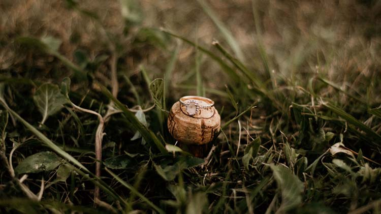 Boho Wedding Ring on Wine Cork | photo by Shelbi Ann Imagery | featured on I Do Y'all
