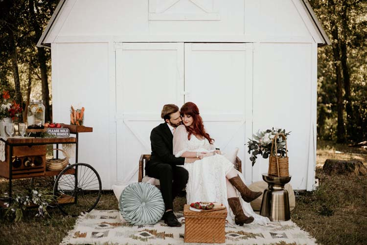 Boho Ranch Wedding Lounge | photo by Shelbi Ann Imagery | featured on I Do Y'all