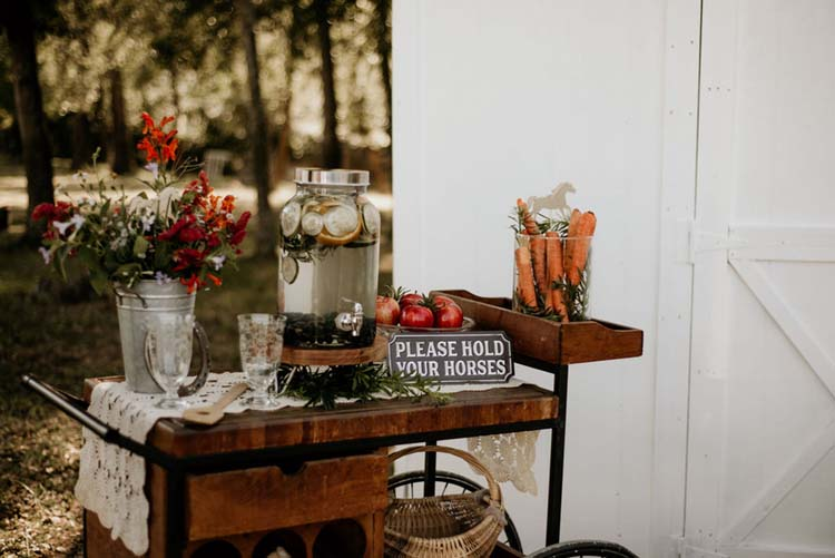 Horse Decor Details at Boho Ranch Wedding | photo by Shelbi Ann Imagery | featured on I Do Y'all