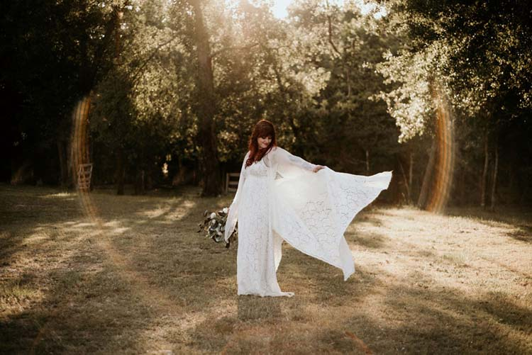 70s Inspired Boho Lace Wedding Dress | photo by Shelbi Ann Imagery | featured on I Do Y'all