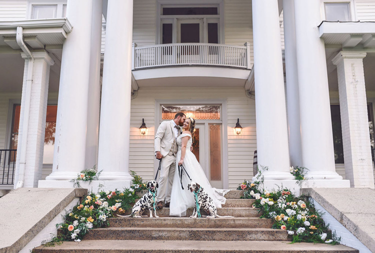 Charming Carolina Elopement with Dalmatians | photo by Radiant Photography by Sydney Danielle